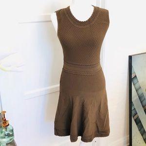 Salvatore Ferragamo Sleeveless Brown Dress